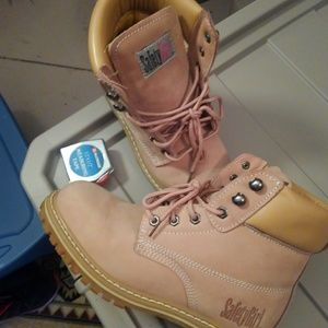 Safety girl construction pale pink size 9.5 W